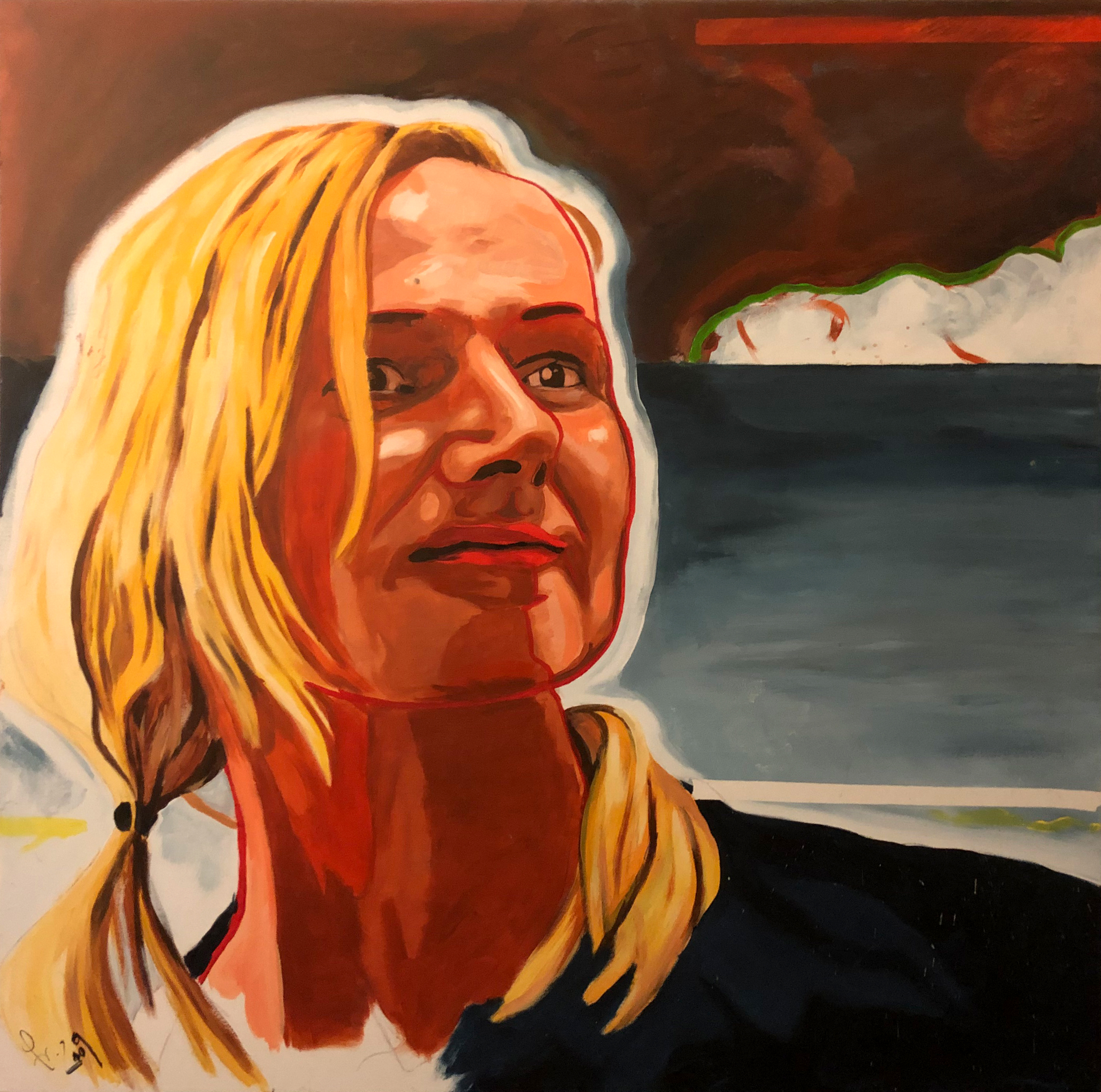 Christine - Acryl On Canvas - 100x100