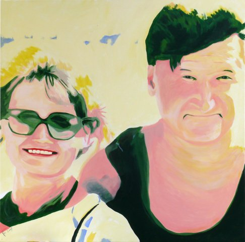 Parents - Acryl on Canvas - 100x100